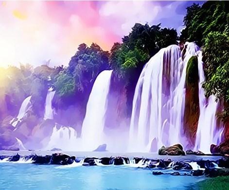 Картина по номерам 40x50 Тропические водопады